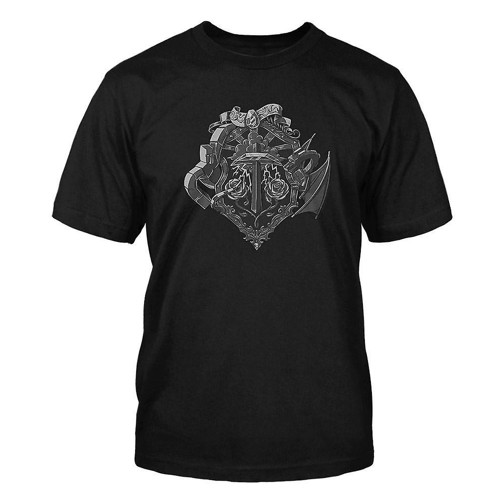 Boys Minecraft T-shirt   Mine Craft Tshirt   Official   HEROES CREST   Youth   XS   BLACK