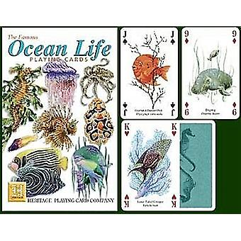 Ocean Life set of 52 playing cards (+ jokers)    (hpc)