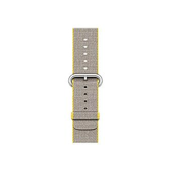 Apple 42 mm geweven Nylon riemen-Klockrem-gele, bleke grijs-Watch (42 mm)