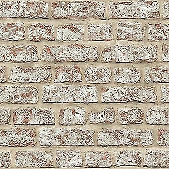 Brick Effect Wallpaper Rustic Weathered Slate Stone Wall Realistic Photographic