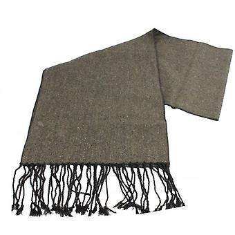 Knightsbridge Neckwear Herringbone Tweed Scarf - Dark Olive