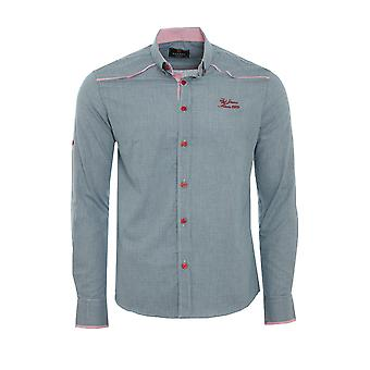 Tazzio fashion shirt men's long sleeve-shirt grey G-702