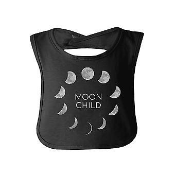 Moon Child Black Cute Halloween Baby Bib Cotton New Parents Gifts