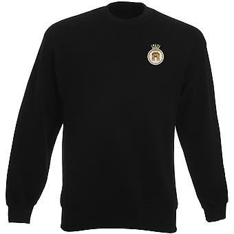 HMS Monmouth Embroidered logo - Official Royal Navy Heavyweight Sweatshirt