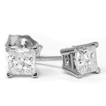 3/4ct Diamond Studs 14K White Gold
