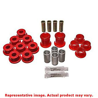 Energy Suspension Control Arm Bushing Set 3.3142R Red Front Fits:CHEVROLET 1984