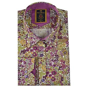 Oscar Banks Autumn Floral Print Mens Shirt