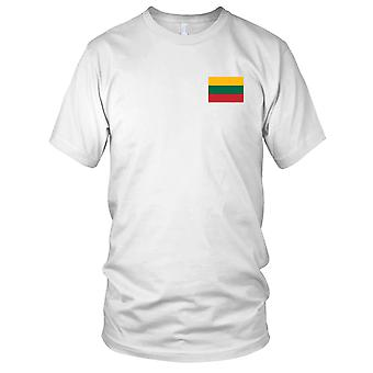 Litauen Land Nationalflagge - Stickerei Logo - 100 % Baumwolle T-Shirt Kinder T Shirt