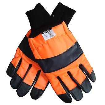 Chainsaw Gloves With Left Hand Protection Pro Quality Extra Large XL Size 11