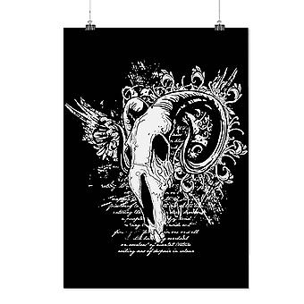 Matte or Glossy Poster with Goat Animal Death Skull | Wellcoda | *d200