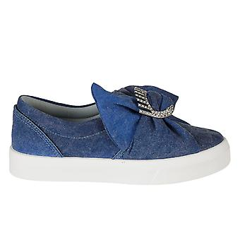 Chiara Ferragni ladies CF1558 Blau fabric slip on sneakers