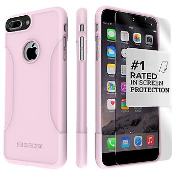 SaharaCase iPhone 8 Plus & 7 Plus desierto rosa caso, clásico paquete de Kit de protección con vidrio templado de ZeroDamage