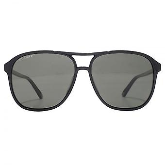 Gucci Vintage Pilot Sunglasses In Black Polarised