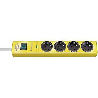 Surge protection socket strip 4 x Yellow PG connector Brennenstu