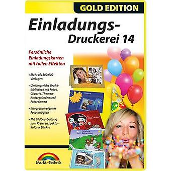 Markt & Technik Einladungs Druckerei 14 Gold Edition Full version, 1 license Windows Template compilation