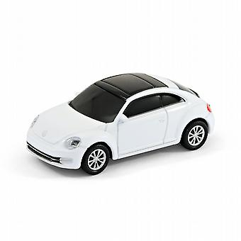 VW Beetle 'New Shape' Memoria USB Car Computer palillo 8GB - Blanco