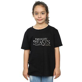 Fantastic Beasts Girls Text Logo T-Shirt