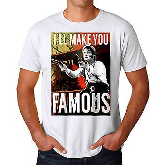 Young Guns berømte mænds hvid T-shirt