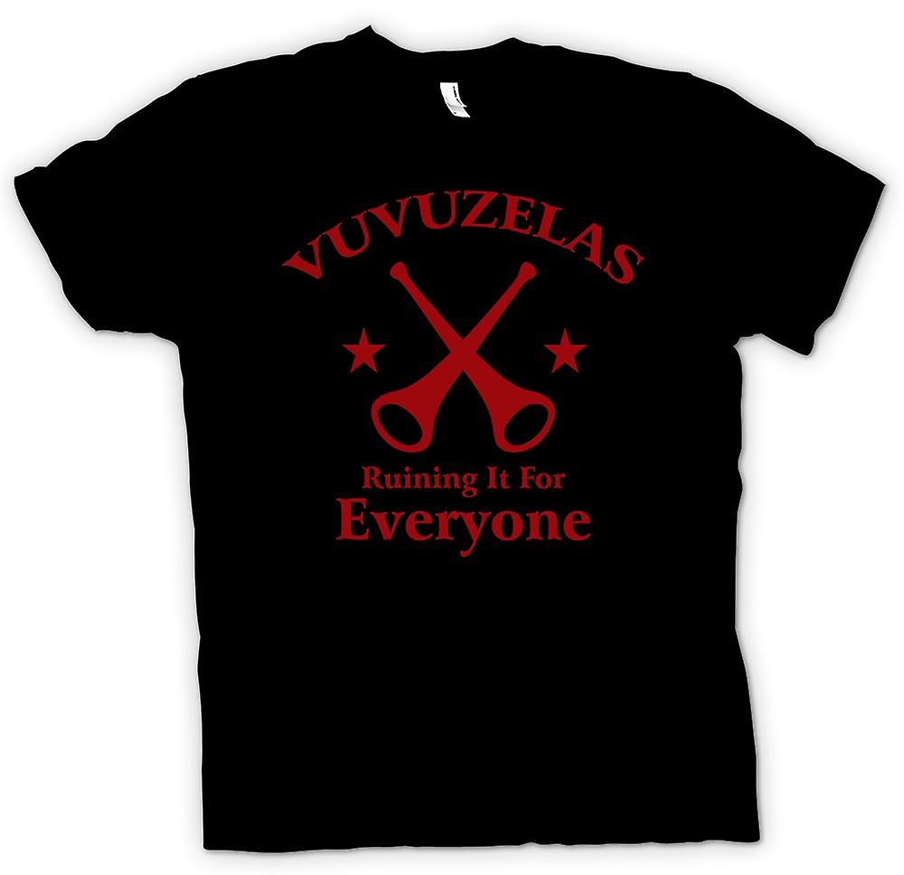 Mens T-shirt - World Cup - Vuvezelas Ruining It - Funny
