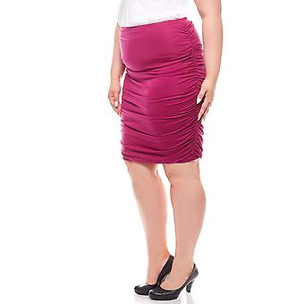 Knee-length pencil skirt purple plus size ashley brooke