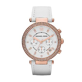Michael Kors MK2281 Ladies White Leather Chronograph Watch