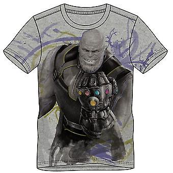 Marvel Comics Avengers Infinity Krieg Mens Thanos T-Shirt klein grau
