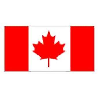 カナダは、吊り下げ用アイレット付き 5 フィート × 3 フィートをフラグ