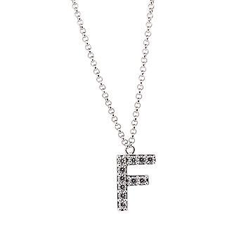 Alfabeto de Orphelia plata 925 F con cadena 40-44 Cm ZK-alfa/F