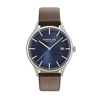 Kenneth Cole New York men's watch wristwatch leather KC15112001