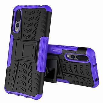 For Huawei P20 per hybrid tilfelle 2-brikke Koczian utendørs lilla veske Pocket ermet dekke beskyttelse