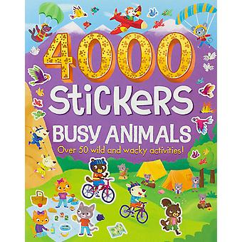 Parragon-4000 Stickers Busy Animals