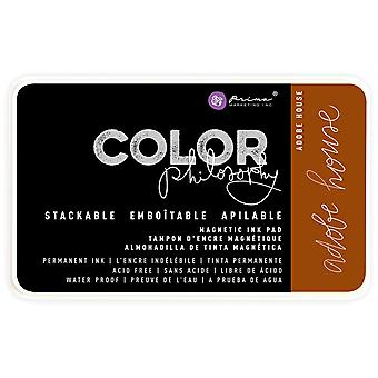 Prima Color Philosophy Permanent Ink Pad In Magnetic Case-Adobe House