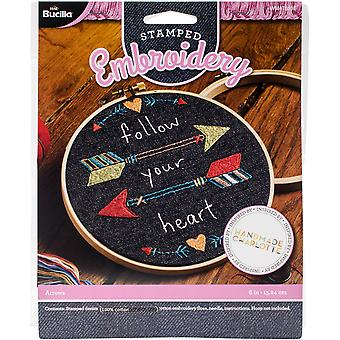 Arrows Stamped Embroidery Kit-6