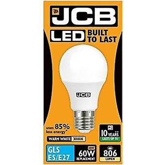 1 X JCB LED GLS Opal (Frosted) Household Light Bulb 10w Edison Screw 3000k Warm White[Energy Class A+]