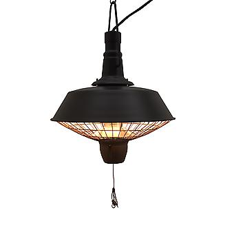 Outsunny Outdoor Garden Patio Hanging Electric Heater Halogen Heating 2100W Balck