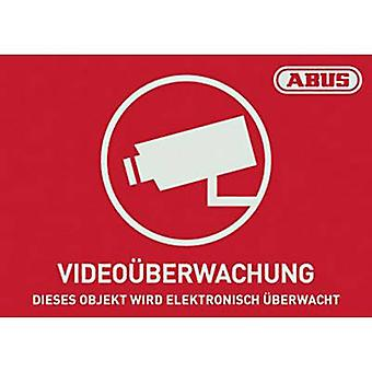 ABUS AU1421 Warning label CCTV Languages German (W x H) 74 mm x 52.5 mm