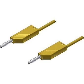 SKS Hirschmann MLN 200/2,5 GE Test lead [Banana jack 4 mm - Banana jack 4 mm] 2 m Yellow