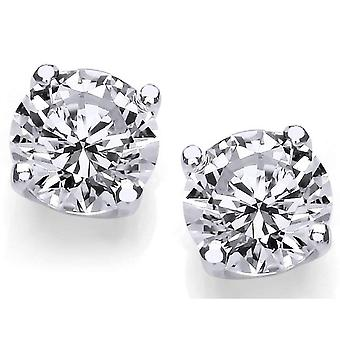 Cavendish French 1/2 Carat Cubic Zirconia Stud Earrings - Silver