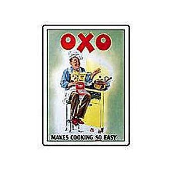 Oxo Makes Cooking Easy Steel Fridge Magnet