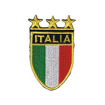 Escudo de Italia parche de hierro-/ coser en tela