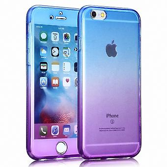 Funda cristal para LG G6 marco púrpura azul todo el cuerpo