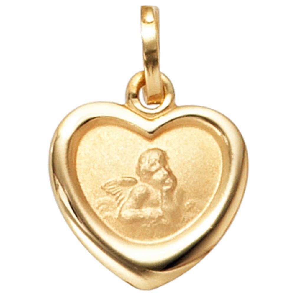 Kinder Anhänger SCHUTZENGEL 333 Gold Gelbgold mit Prägung Kinderschmuck Taufe Geburt