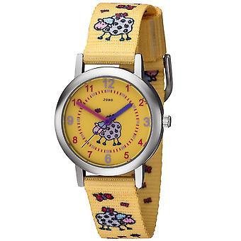 JOBO børn se får flokkes gul kvarts analog ur
