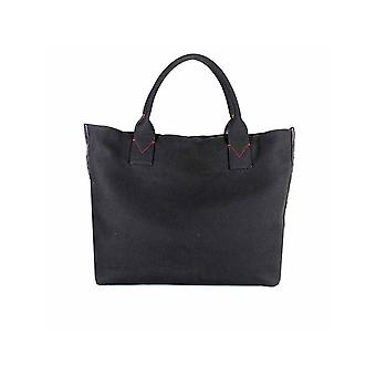 PINKO BLACK CANVAS CRISPO LARGE SHOPPER
