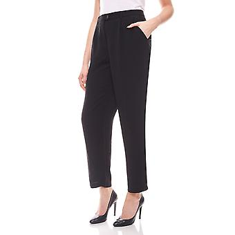 Ladies Trousers in black short size Aniston
