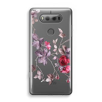 LG V20 Transparent fodral (Soft) - vackra blommor
