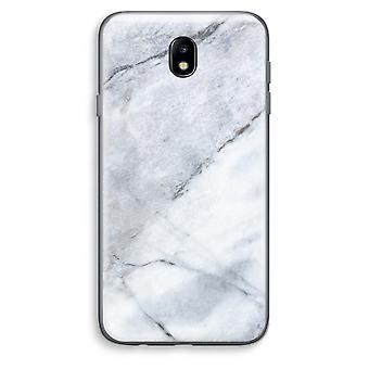 Samsung Galaxy J7 (2017) Transparent Case - Marble white