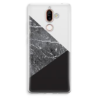 Nokia 7 Plus Transparent Case (Soft) - Marble combination