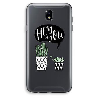 Samsung Galaxy J7 (2017) Transparent Case - Hey you cactus