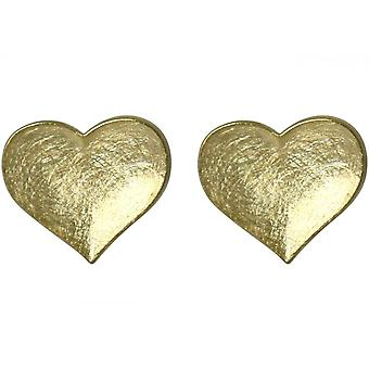 Ladies heart earrings 925 silver plated ear studs 1,3 cm